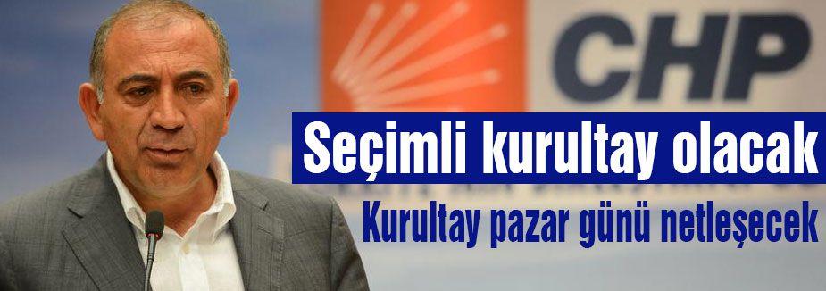 CHP'de  Seçimli kurultay