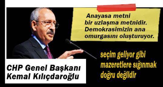 CHP'den Anayasa için 'devam' sözü