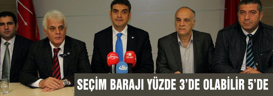 CHP'li Oran: Seçim barajı yüzde 3 de olabilir 5 de