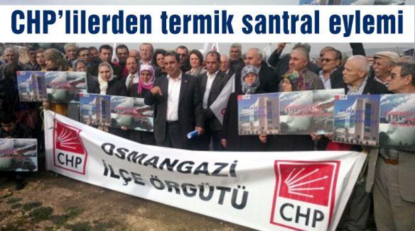 CHP'lilerden termik santral eylemi