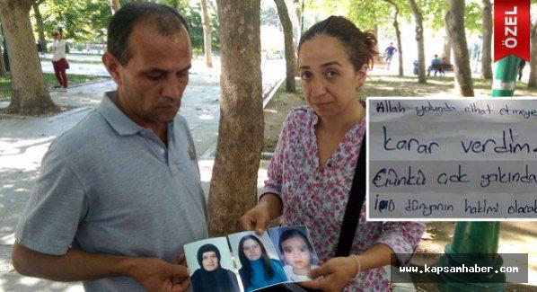 'Ciha'da gidiyorum' dedi bir yaşındaki kızıyla ortadan kayboldu.