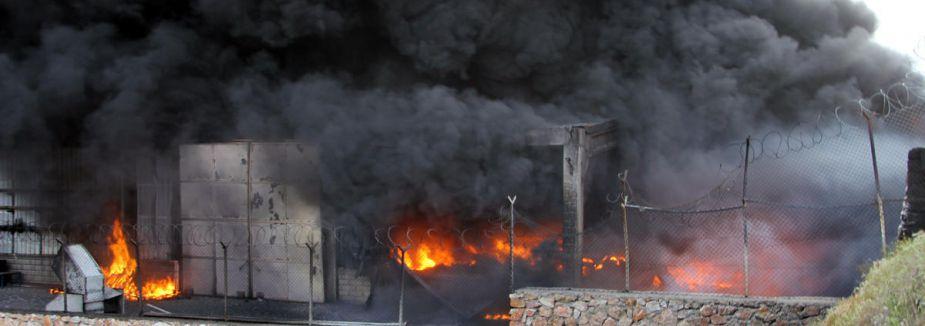 Çin'de fabrika yangını...