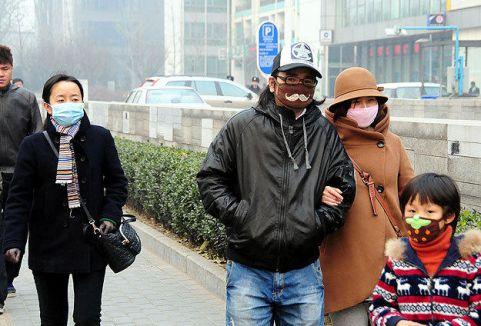 Çin'de yoğun hava kirliliği...