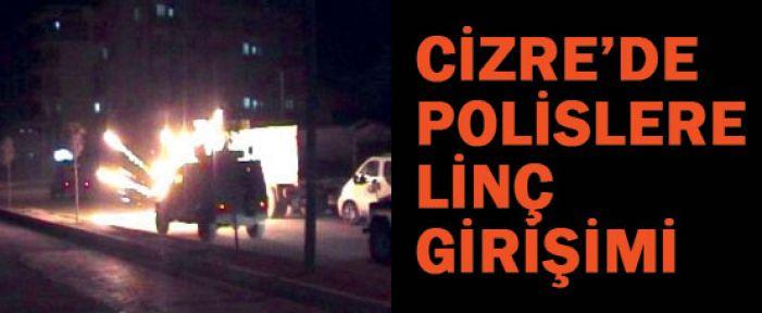 Cizre' de iki Polise Molotoflu Saldırı