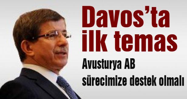 Davutoğlu; Avusturya AB sürecimize destek olmalı