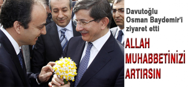 Davutoğlu Baydemir'i ziyaret etti