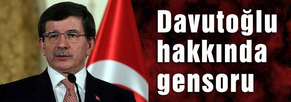 Davutoğlu hakkında gensoru