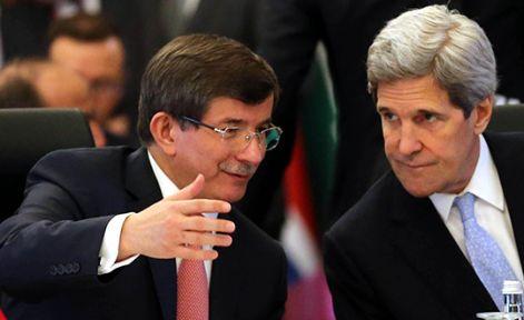Davutoğlu John Kerry İle Görüştü...