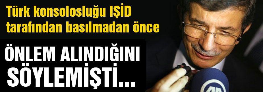 Davutoğlu 'Önlem Alındı' Demişti,