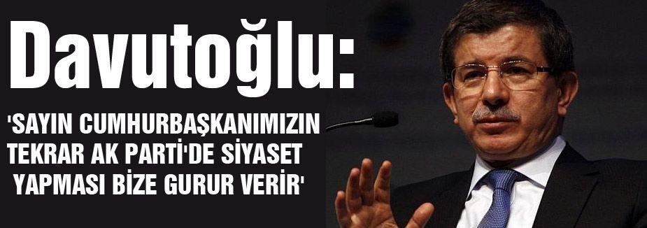 Davutoğlu'ndan Abdullah Gül Açıklaması