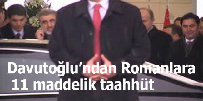 Davutoğlu'ndan Romanlara 11 maddelik taahhüt