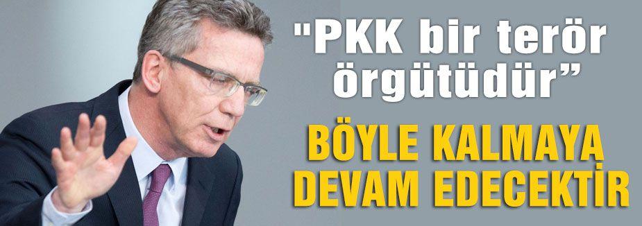 De Maiziere: PKK Terör Örgütüdür