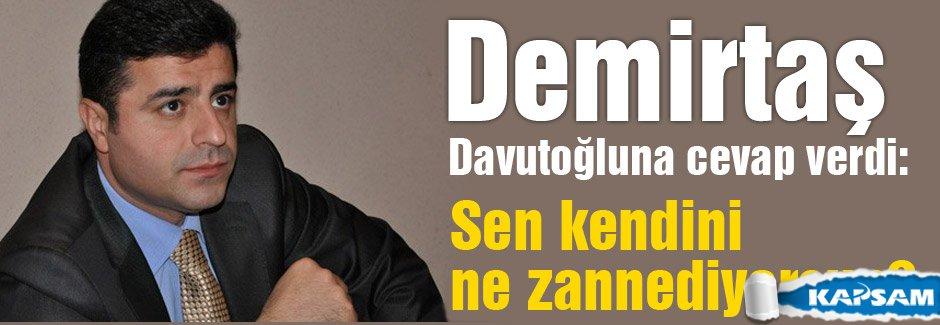 Demirtaş, Davutoğlu'na cevap verdi