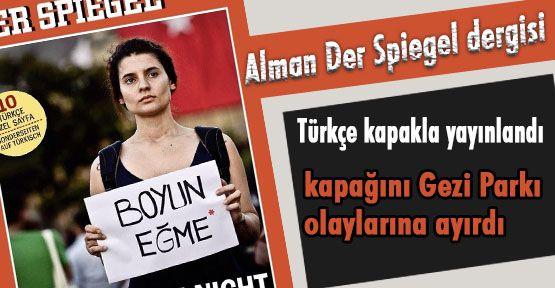 Der Spiegel'den Türkçe Boyun eğme Kapağı!