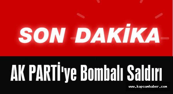 Diyarbakır'da AK PARTİ'ye Bombalı Saldırı