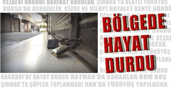 Diyarbakır'da Hayat Felç!