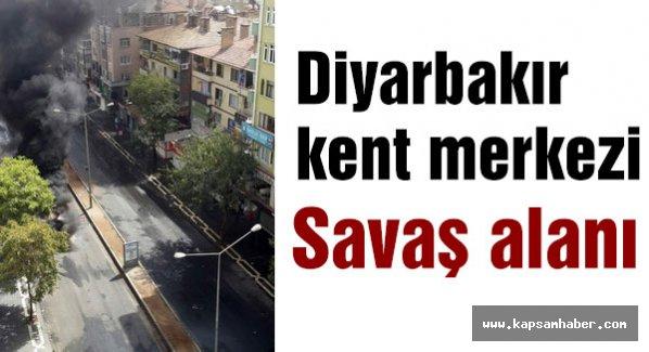 Diyarbakır'ın kent merkezi savaş alanına döndü