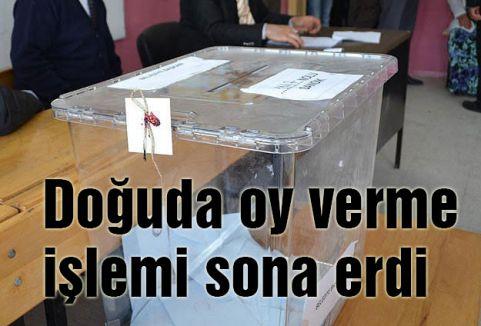 Doğuda oy verme işlemi sona erdi