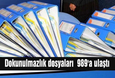 Dokunulmazlık dosyaları  989'a ulaştı
