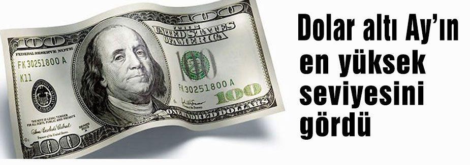 Dolar altı ayın en yüksek seviyesini gördü