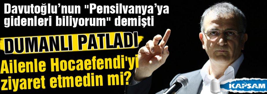 Dumanlı'dan Davutoğlu'na şok 'Pensilvanya' cevabı