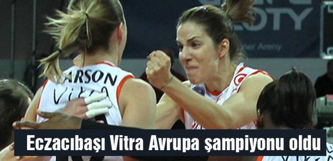 Eczacıbaşı Vitra Avrupa şampiyonu oldu