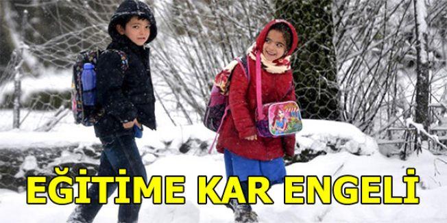 Eğitime Kar Engeli...