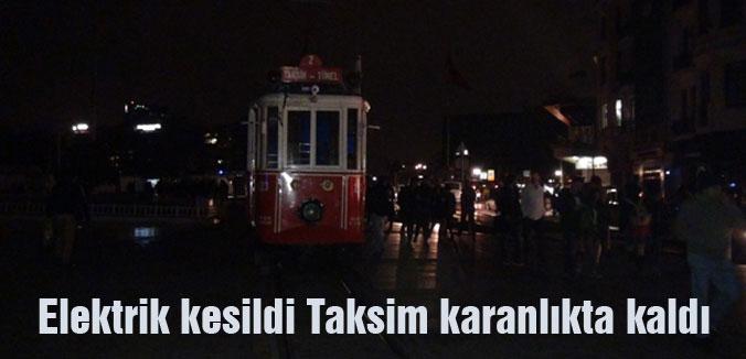 Elektrik kesildi Taksim karanlıkta kaldı