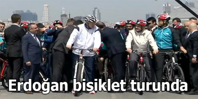 Erdoğan bisiklet turunda