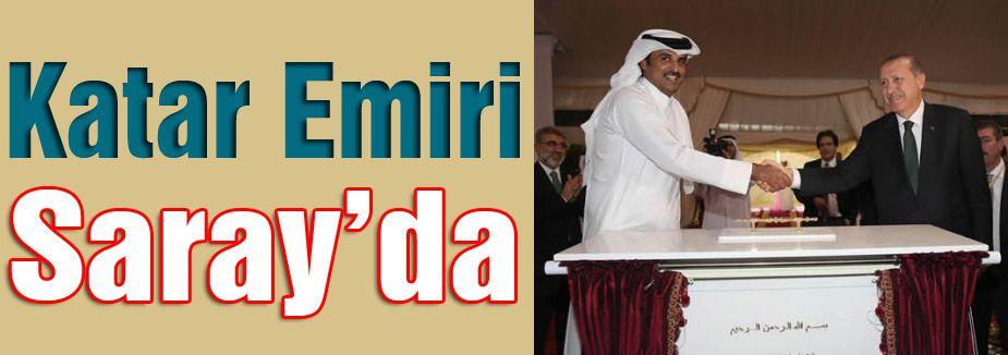 Erdoğan, Katar Emiri Şeyh Temim'le görüşüyor...