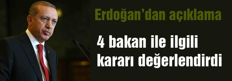 Erdoğan Komisyon kararını değerlendirdi