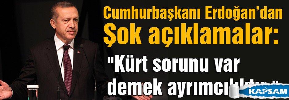 Erdoğan: Kürt sorunu var demek ayrımcılıktır