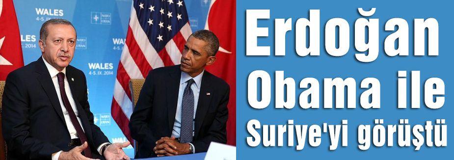 Erdoğan, Obama ile Suriye'yi görüştü