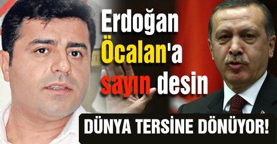 Erdoğan Öcalan'a Sayın Desin