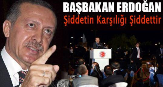 Erdoğan;  Şiddetin Karşılığı Şiddettir