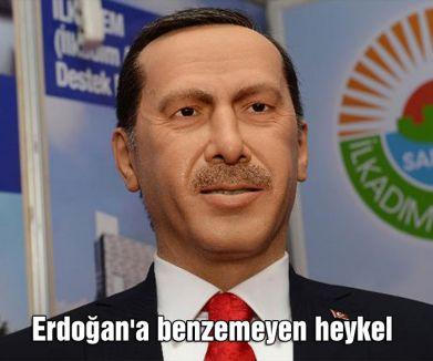 Erdoğan'a benzemeyen heykel...