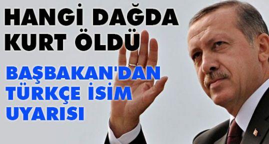 Erdoğan'dan Türkçe İsim Uyarısı!