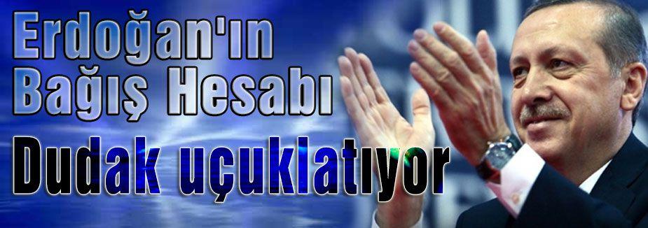 Erdoğan'ın Bağış Hesabı dudak uçuklatıyor