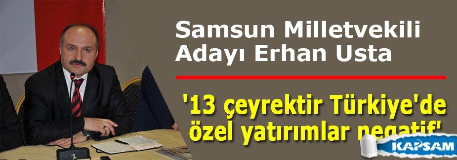 Erhan Usta:'13 çeyrektir Türkiye'de özel yatırımlar negatif'