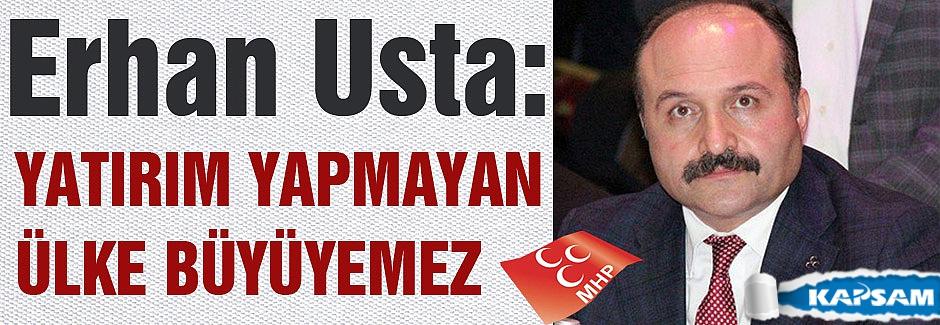 Erhan Usta: 'Yatırım yapmayan ülke büyüyemez'