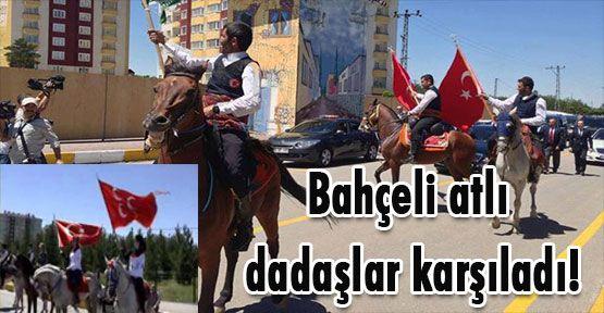 Erzurum'da Bahçeli'ye Dadaş karşılaması