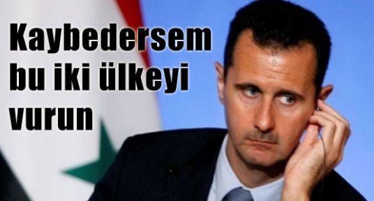 Esad, Kaybederse Hangi iki Ülkenin Vurulmasını Vasiyet Etti