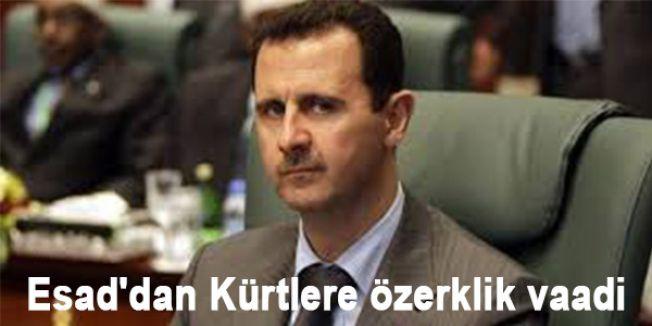 Esad Kürtlere özerklik vaadi etti