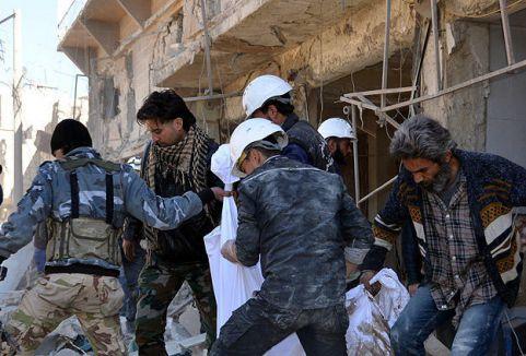 Esed güçlerinin saldırdı 73 kişi öldü