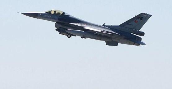 F16'lar Suriye sınırında devriyede