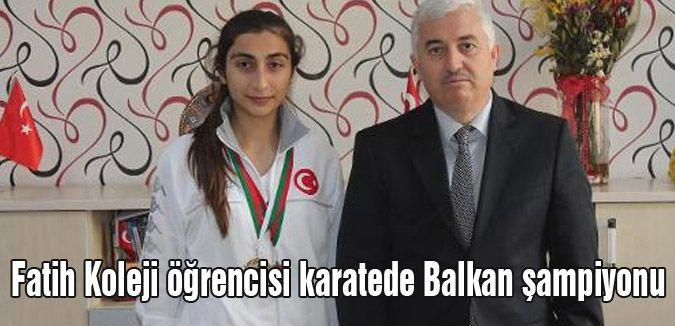 Fatih Koleji öğrencisi karatede Balkan şampiyonu