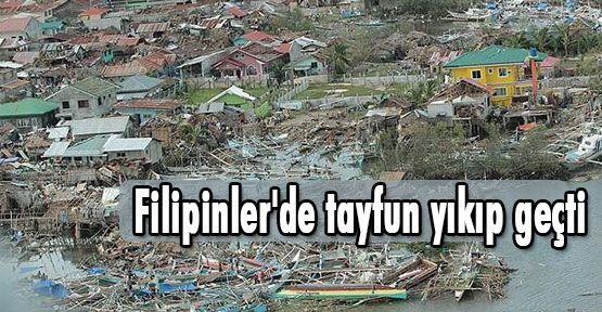 Filipinler'de tayfun yıkıp geçti