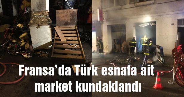 Fransa'da Türk esnafa saldırı
