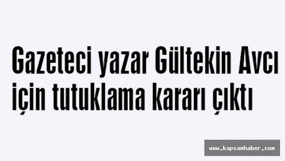 Gazeteci yazar Gültekin Avcı için tutuklama kararı çıktı