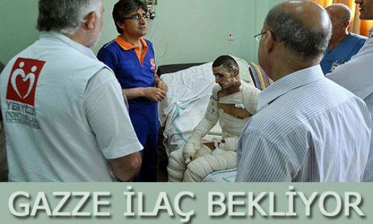 Gazze ilaç bekliyor...